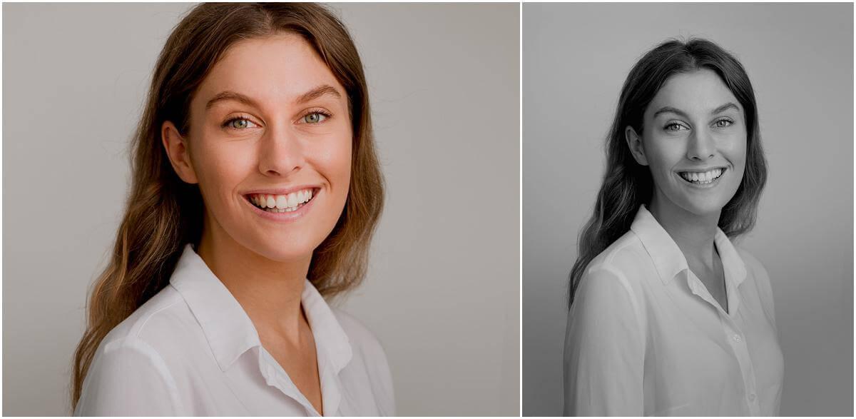 smiling female actor
