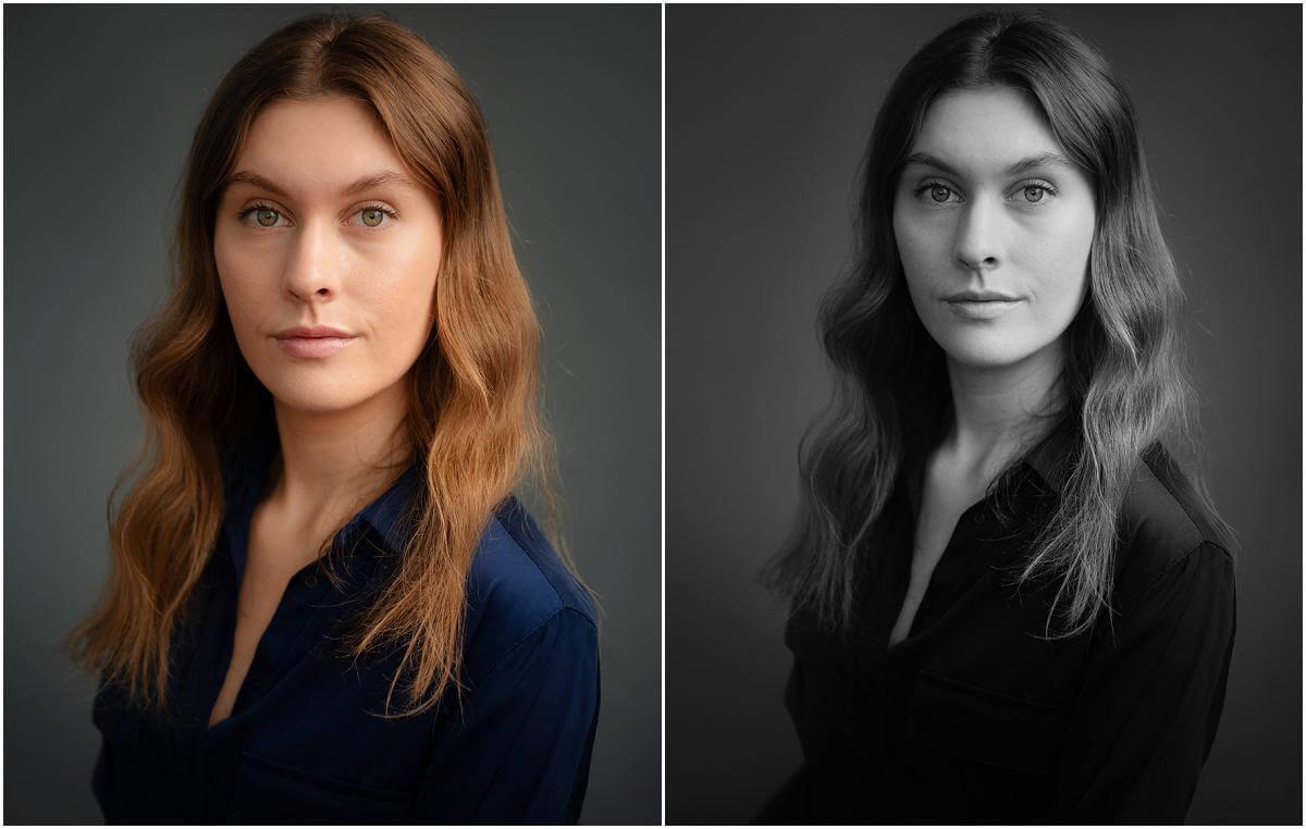 female actor blue blouse